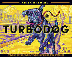 Abita Turbo Dog Brown Ale beer Label Full Size
