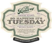 Bruery Just So Happens It's Tuesday beer Label Full Size