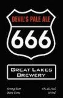 Great Lakes Devil's Pale Ale 666 beer Label Full Size