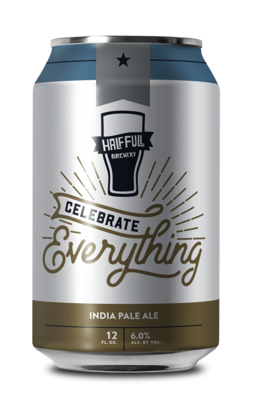 Half Full Celebrate Everything IPA beer Label Full Size