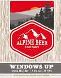 Alpine Windows Up IPA Beer