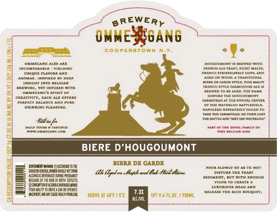 Ommegang Biere d'Hougoumont beer Label Full Size