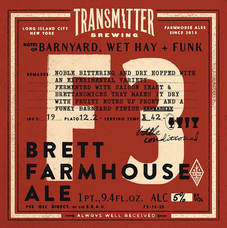 Transmitter F3 Brett Farmhouse beer Label Full Size