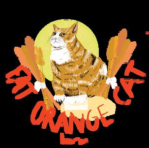 Fat Orange Cat Hannah Banana beer Label Full Size