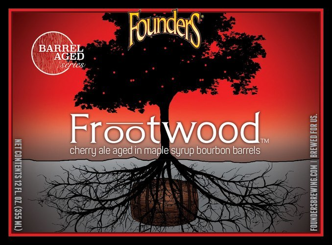 Founder's Barrel Aged Series: Frootwood beer Label Full Size