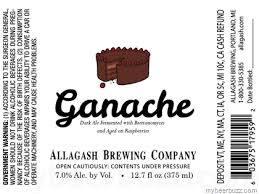 Allagash Ganache beer Label Full Size