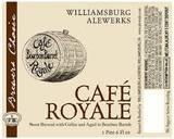 Alewerks Cafe Royale Coffee Stout beer