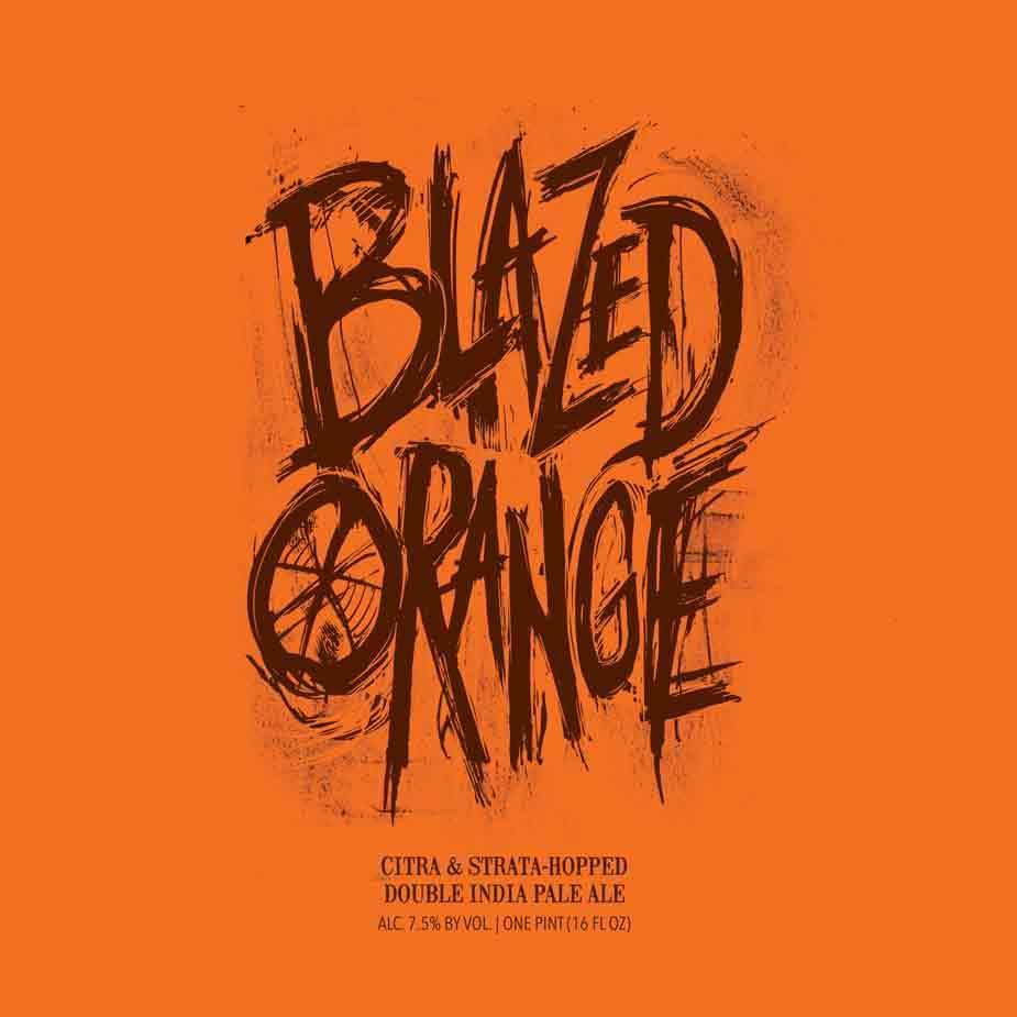 Hop Butcher for the World Blazed Orange beer Label Full Size