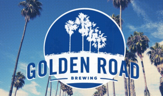 Golden Road Palisades Pineapple beer Label Full Size