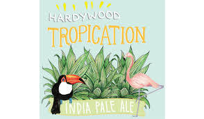 Hardywood Park Tropication beer Label Full Size