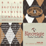 Brau Brothers Bancreagie Peated Scotch Ale beer