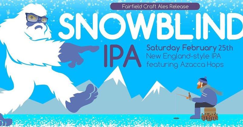 Fairfield Craft Ales Snowblind beer Label Full Size