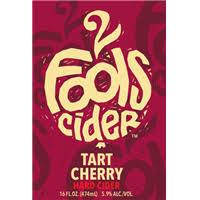 2 Fools Tart Cherry beer Label Full Size