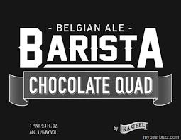 Van Honsebrouck Barista Chocolate Quad beer Label Full Size