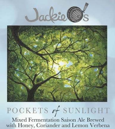 Jackie O's Pockets of Sunlight beer Label Full Size