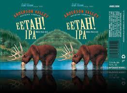 Anderson Valley EETAH! IPA beer Label Full Size