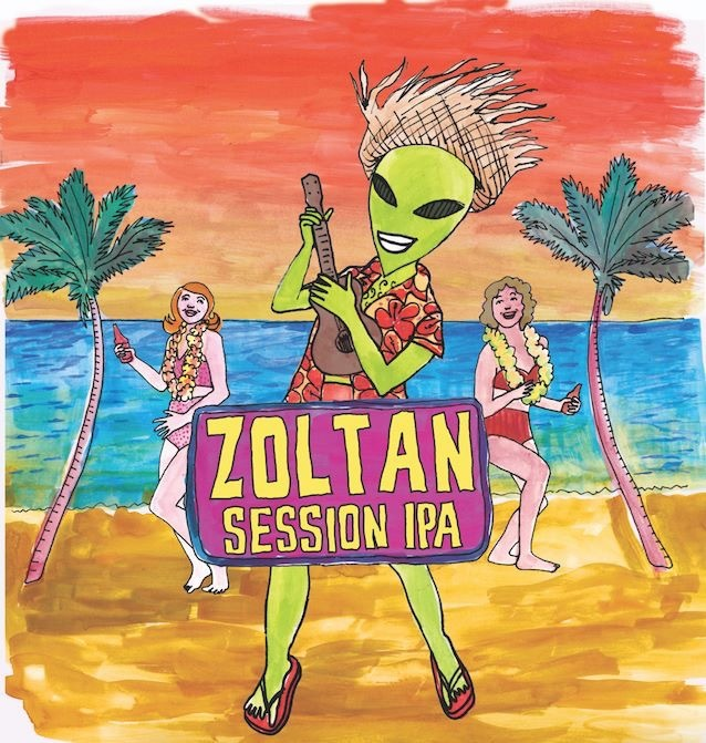 Exile Zoltan Session IPA beer Label Full Size