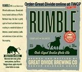 Great Divide Oak-Aged Rumble IPA beer
