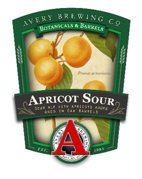 Avery Apricot Sour aged in Oak beer Label Full Size