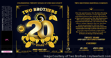 Two Brothers 20th Anniversary IPA Beer