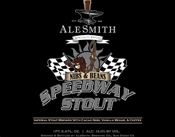 AleSmith Nibs & Beans Speedway Stout beer Label Full Size