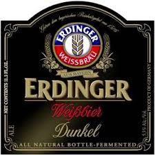 Erdinger Weissbrau Dunkelweizen beer Label Full Size