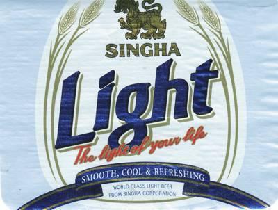 Singha Light beer Label Full Size