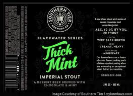 Southern Tier Blackwater Thick Mint beer Label Full Size
