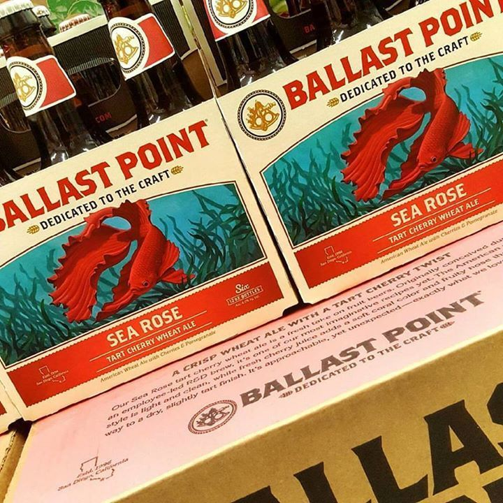 Ballast Point Sea Rose Cherry Wheat Ale beer Label Full Size