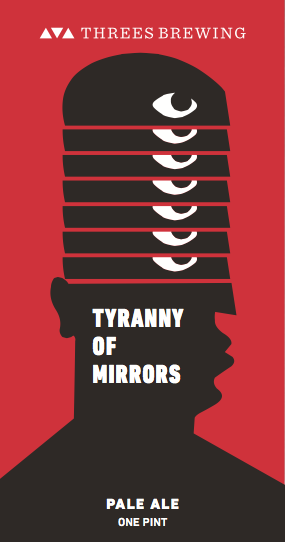 Threes Tyranny of Mirrors beer Label Full Size