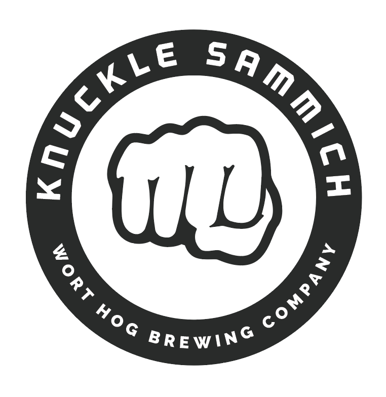 Knuckle Sammich | 77 IBU's beer Label Full Size