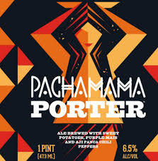 Pachamama Porter, Evil Twin/Two Roads Brewing beer Label Full Size