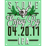 Stone Enjoy By 04.20.17 IPA Devastatingly Dank DIPA Beer