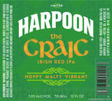 Harpoon The Craic Irish Red IPA Beer