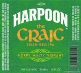 Harpoon The Craic Irish Red IPA beer