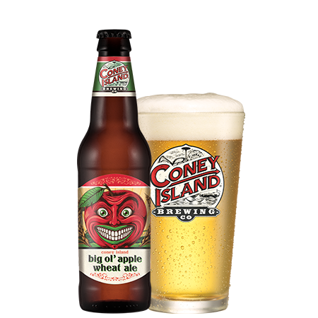 Coney Island Big Ol' Apple Wheat beer Label Full Size