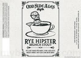 Odd Side Rye Hipster Brunch beer Label Full Size