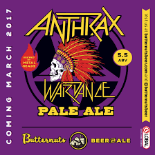 Butternuts Anthrax Wardance Pale Ale beer Label Full Size