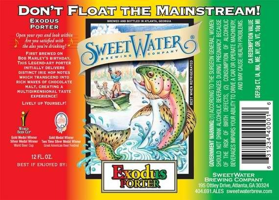 SweetWater Exodus beer Label Full Size