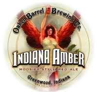 Oaken Barrel Indiana Amber beer Label Full Size