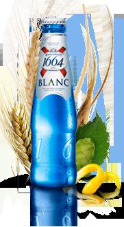 Kronenbourg 1664 Blanc beer Label Full Size