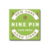 Nine Pin Cidre Rosé beer Label Full Size