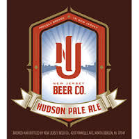 New Jersey Beer Company Hudson Pale Ale beer Label Full Size
