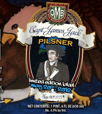 Olde Mecklenburg Captain Jack Pilsner beer Label Full Size