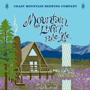 Crazy Mountain Livin' Pale Ale beer Label Full Size