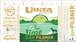 Uinta Lime Pilsner Beer