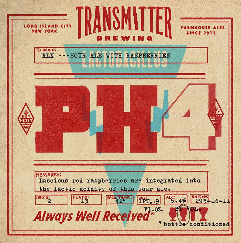 Transmitter PH4 Raspberry Sour beer Label Full Size