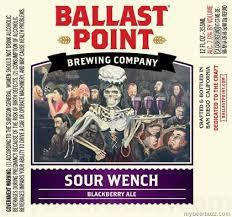 Ballast Point Sour Wench Blueberry Sour beer Label Full Size