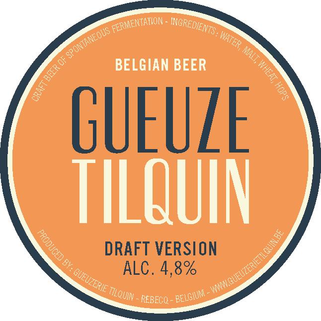 Tilquin Gueuze Draft Version - 2015 Release beer Label Full Size