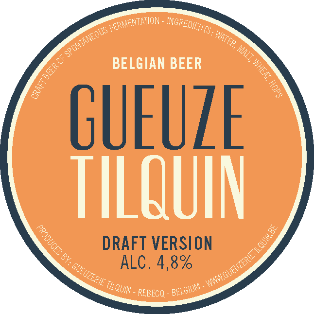 Tilquin Oude Gueuze Draft Version 2016 beer Label Full Size